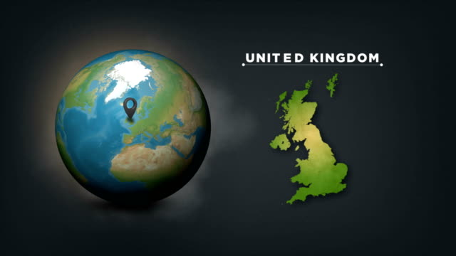 4k world globe map with united kingdom country map - government minister stock videos & royalty-free footage