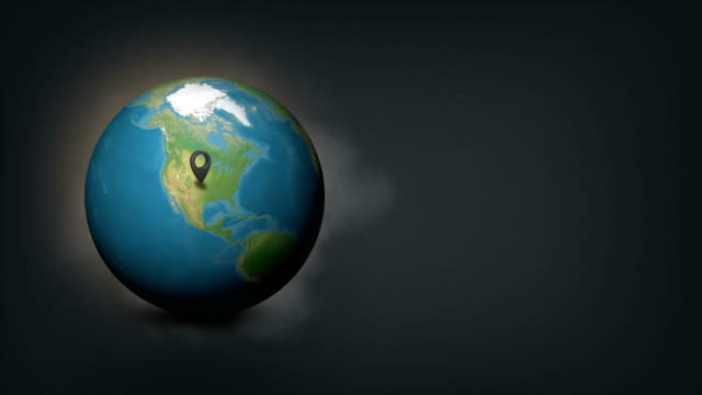 4k world globe map with united states usa country map - pinning stock videos & royalty-free footage