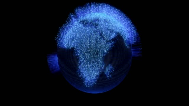 world globe with moving connection lines data - connection in process stock videos & royalty-free footage