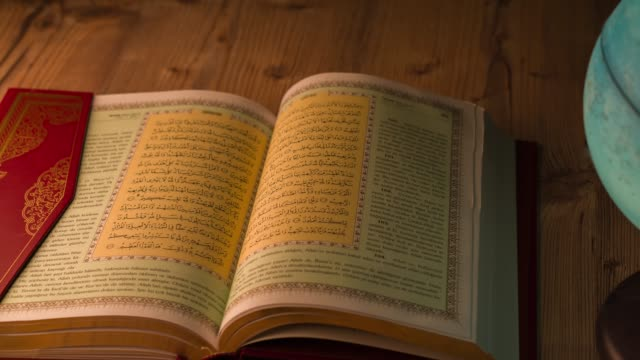 world globe-koran - koran stock videos and b-roll footage