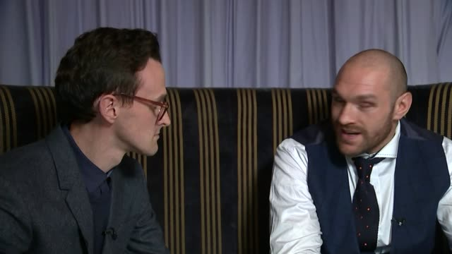 world heavyweight champion tyson fury interview england greater manchester bolton macron stadium tyson fury interview sot i've got quite a few gay... - sports champion stock videos and b-roll footage