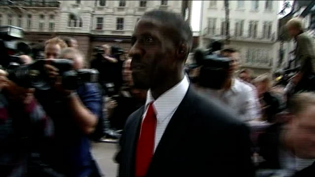 stockvideo's en b-roll-footage met mo farah due to compete in 3000m heats t18070810 england london ext chambers arriving at the high court in attempt to get ban on competing at the... - wereldkampioenschap sport