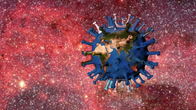 vídeos de stock e filmes b-roll de world infected with virus - poluição de água