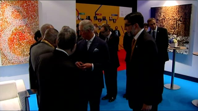 prince charles keynote speech prince charles meeting guests including hamid karzai - keynote speech stock videos and b-roll footage