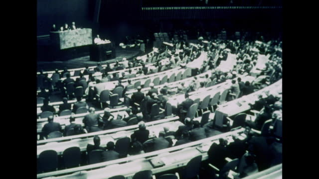 1964 world leaders meet at united nations to map a course of direction - united nations building stock videos and b-roll footage
