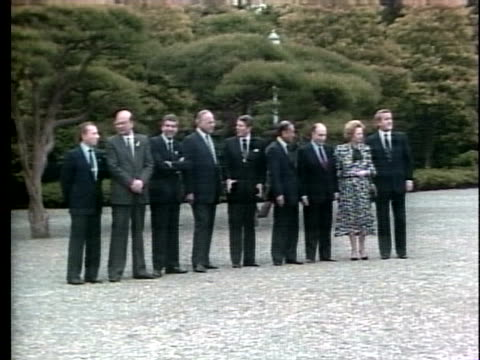 stockvideo's en b-roll-footage met world leaders meet in tokyo for the tokyo economic summit - business or economy or employment and labor or financial market or finance or agriculture