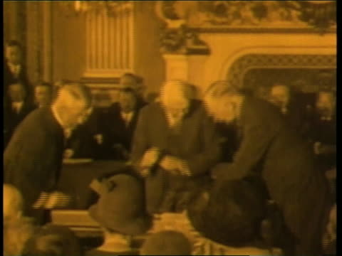 world leaders sign the versailles treaty at the end of world war i. - signature stock videos & royalty-free footage