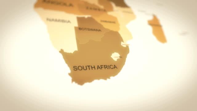 vídeos y material grabado en eventos de stock de animación de mapas del mundo 4k (afrika del sur) - zoom hacia fuera