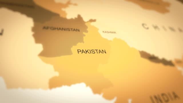 4k world map animation (pakistan) - pakistan stock videos & royalty-free footage