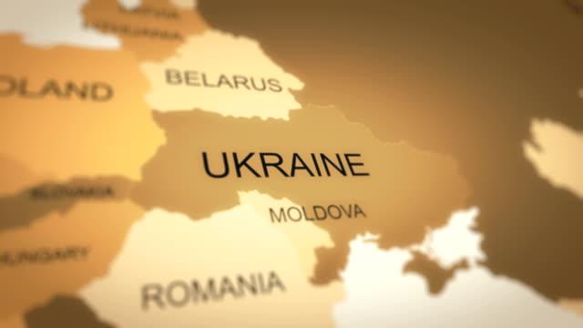 4k world map animation (ukraine) - ukraine stock videos & royalty-free footage