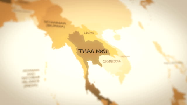 4k world map animation (thailand) - thailand stock videos & royalty-free footage