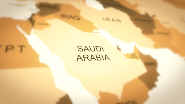 4k world map animation (saudi arabia) - west direction stock videos & royalty-free footage