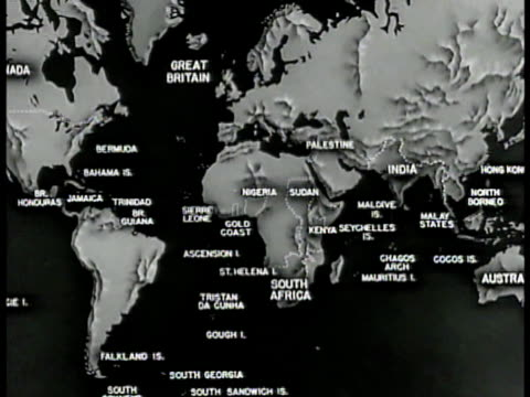 MAP World Map British Commonwealth Nations ZI South Africa