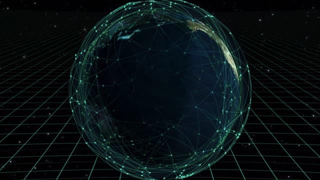 stockvideo's en b-roll-footage met wereld kaart cyber concept - bedreiging