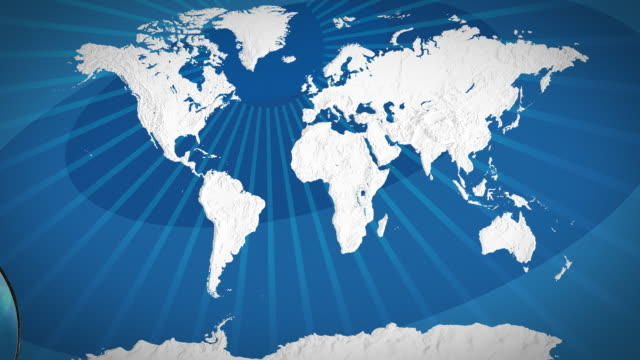 Map Of Asia Video.World Map Focus On Asia Stock Footage Video Getty Images