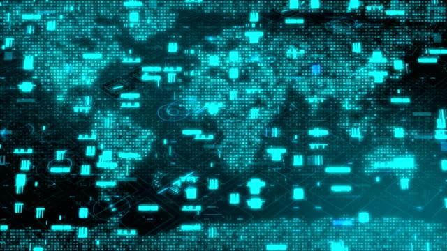 世界地図, グローバルビジネス, グローバル, 地図, ブロックチェーン - 交換する点の映像素材/bロール