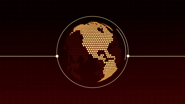 world map globe loop animation - two dimensional shape stock videos & royalty-free footage
