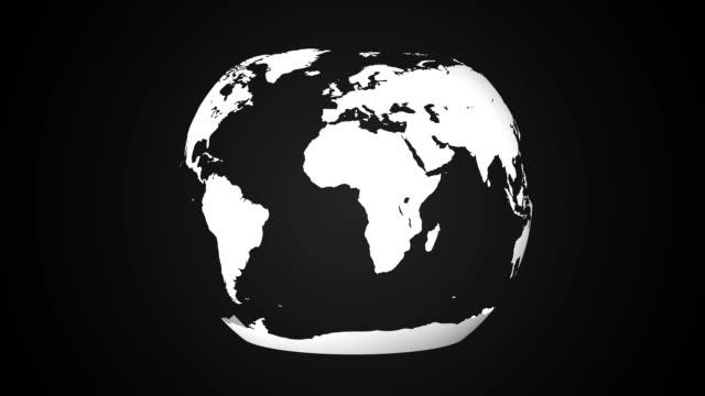 World Map globe to plane.