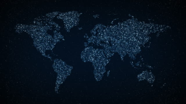 world map in night sky - transparent stock videos & royalty-free footage