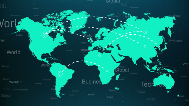 world map infographic 4k - infographic stock videos & royalty-free footage