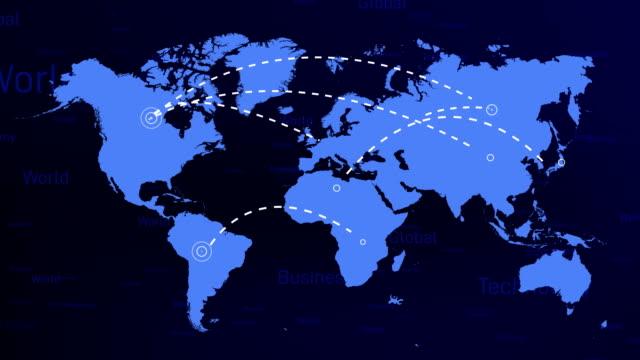 vídeos y material grabado en eventos de stock de infografía del mapa del mundo 4k - infografía