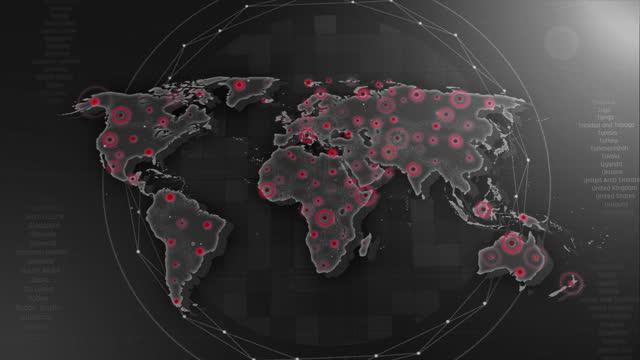 vidéos et rushes de 4k world map links 4k avec tous les détails de fond - reportage