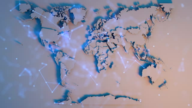 vídeos y material grabado en eventos de stock de concepto de red de mapas mundiales - cadena de bloques