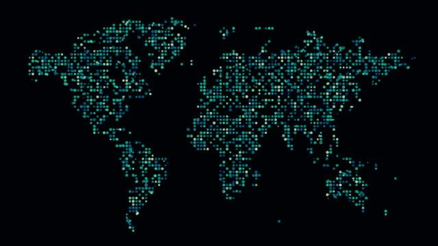 vídeos de stock, filmes e b-roll de mapa do mundo - liso