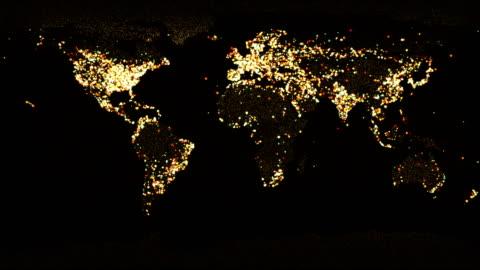 stockvideo's en b-roll-footage met wereldkaart - globaal