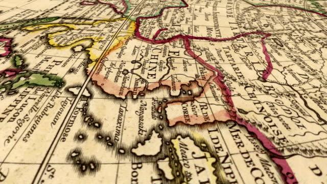 vídeos y material grabado en eventos de stock de mapa mundial - anticuario anticuado
