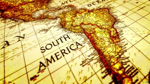 world map - latin america stock videos & royalty-free footage