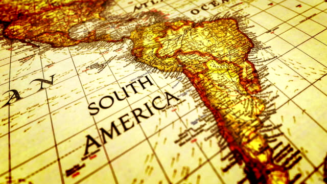 world map - south america stock videos & royalty-free footage