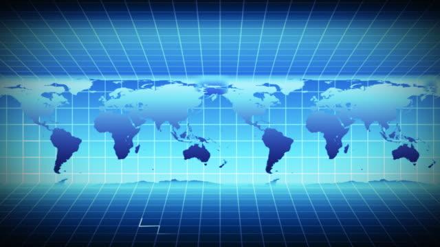 vídeos de stock, filmes e b-roll de cgi, world map - movimento perpétuo