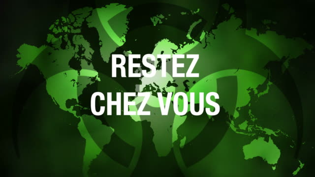 world map with reste you slogan. - french language stock videos & royalty-free footage