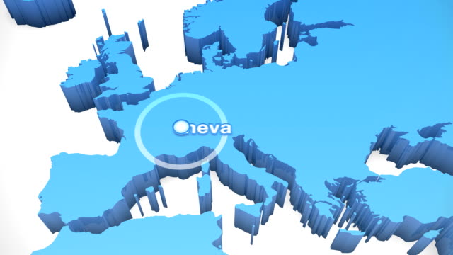 3 D Welt Karte zoomen Europa 3