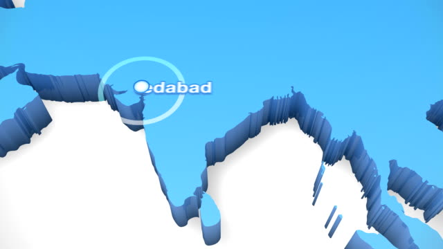 3d world map zoom india 2 - uttar pradesh stock videos and b-roll footage