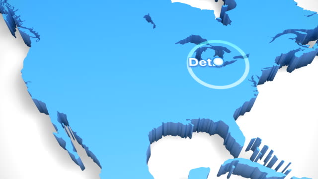 3D World Map Zoom USA 3