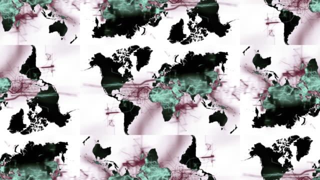 vídeos de stock e filmes b-roll de mapas do mundo - mapa múndi