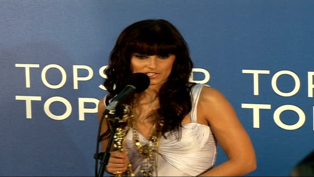 Celebrity red carpet arrivals and interviews / Winners room interviews Nelly Furtado interview SOT On winning being very special / considers herself...