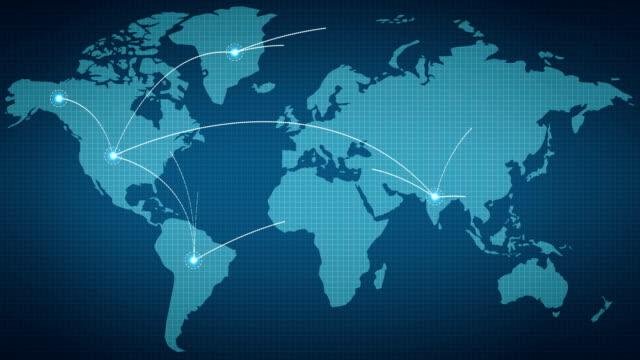 stockvideo's en b-roll-footage met wereld netwerkverbinding - geografische locatie