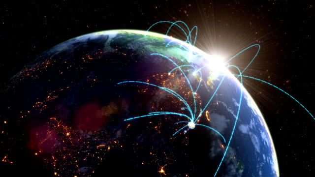 world network loop - planet space stock videos & royalty-free footage