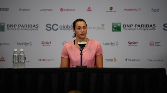 World number eight Caroline Garcia says she is working on keeping her emotions in check after crying during a hard fought victory over Elina...