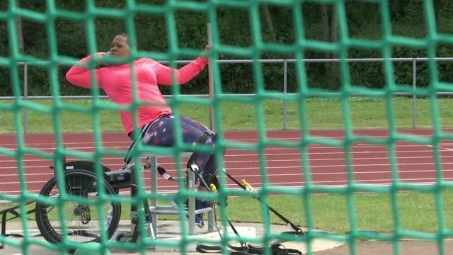 world para athletics championships london 2017: shotputter vanessa wallace interview; england: london: ext various of vanessa wallace at shot putt... - shot put stock videos & royalty-free footage