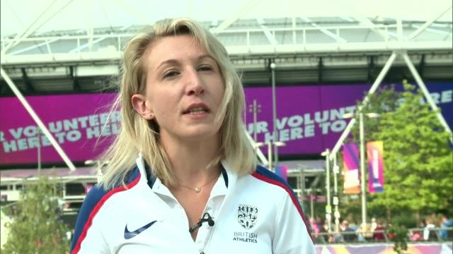 World Para Athletics championships success in London ENGLAND London Stratford EXT Georgie Hermitage interview SOT
