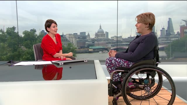 world para athletics championships success in london england london gir int baroness tanni greythompson live studio interview sot - baroness stock videos & royalty-free footage