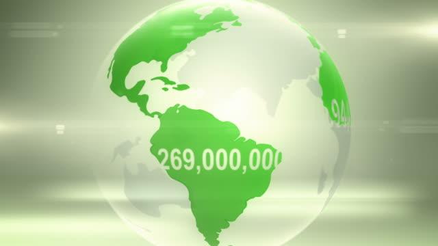 Popolazione mondiale versione (verde
