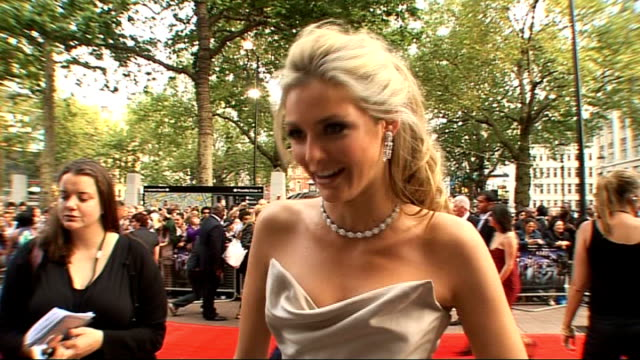 world premiere of '4321' in london interviews with stars of the film general view tamsin egerton speaking to press on red carpet tamsin egerton... - sleeveless dress stock videos and b-roll footage