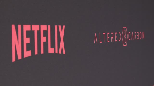 atmosphere world premiere of the netflix original series altered carbon at mack sennett studios on february 01 2018 in los angeles california - netflix stock videos & royalty-free footage