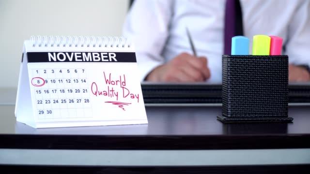 world quality day - special days - abbigliamento da lavoro formale video stock e b–roll