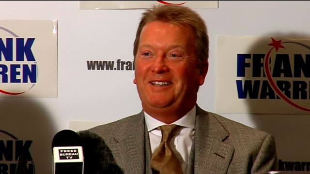 nicky cook press conference nicky cook / frank warren press conference continued - world title stock videos and b-roll footage